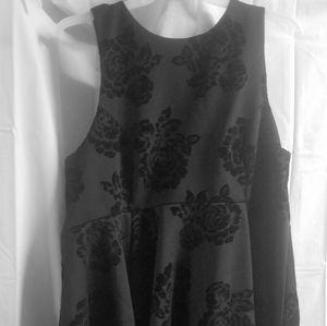 Torrid size 24 Black Rose dress